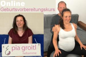 Hebamme Pia Groitl und das Ehepaar Magdalena und Andreas Hacklinger